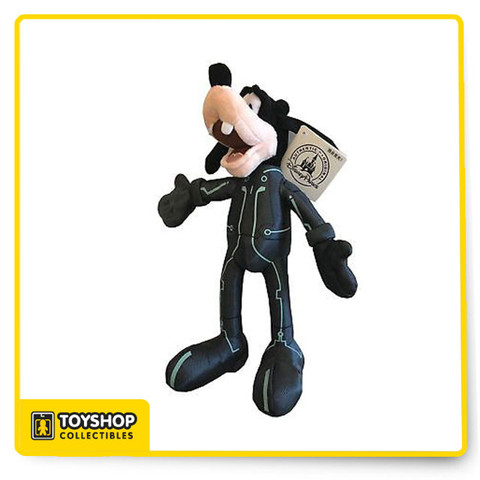 """Disney Goofy Tron Lightcycle Power Plush Disney Parks.  9"""" tall and authentic from Disney."""