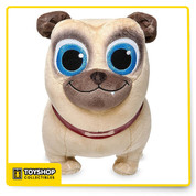 The fun-loving Rolly loves adventures with his brother Bingo, and lots of hugs. The irresistibly cute star of Disney Junior's new animated series Puppy Dog Pals would love to be friends with your own little pup. Magic in the details  Detailed plush sculpturing Embroidered features Glittering detail on eyes PVC collar with glitter bone appliqué Part of our Puppy Dog Pals Plush Collection