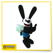 Have two lucky rabbit's feet in tow wherever you go with our Oswald Snuggle Snapper Plush Bracelet. The cute, cuddly, and super soft Oswald plush attaches to your wrist with a slap bracelet.   Soft plush construction Embroidered features Attaches to wrist with slap bracelet Polyester 8'' H x 4'' W Imported