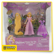 Your little princess will love to get creative with this Rapunzel figure play set. Featuring additional dress, hairstyle, artist palette and sweet Pascal, this set is perfect for fairytale fashion play!   Set includes Rapunzel and Pascal figures Includes tiara, art palette, frying pan, additional dress and interchangeable Rapunzel head with different hairstyle Ages 3+ Plastic Figures up to 3 3/4'' H