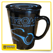 Features  Exclusive Shanghai Disney Theme Parks item Rev up and get ready for the grid with this TRON Lightcycle Power Run Mug Features exclusive TRON artwork around entire mug's exterior. Blue inner color. Holds 12 ounces. Approximately 4 3/4 inches high by 3 3/4 inches wide. Made of glazed ceramic. Authentic, original Disney merchandise