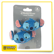 Features Exclusive Shanghai Disney Theme Parks item Hold your hair with the cutest alien in the cosmos Stitch Lilo and Stitch movie character Stitch plush face barrettes set of two. The barrettes are covered with soft material not to damage hair Gentle for little ones Polyester fabric with embroidered details. Measures 3 inches long
