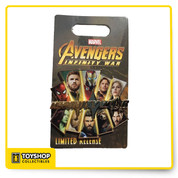 Avengers Infinity War Opening Day Pin by Disney. The pin is new on card.