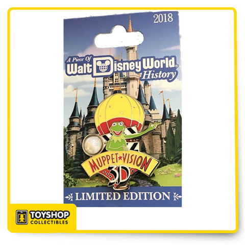 This Piece Of Disney History pin from Disney World features a piece from Muppet Vision 3D! Limited edition of 1,500