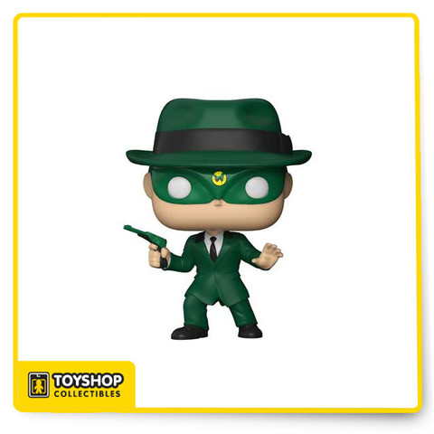 Green Hornet (1960) as a stylized POP vinyl from Funko! Figure stands 3 3/4 inches and comes in a window display box.