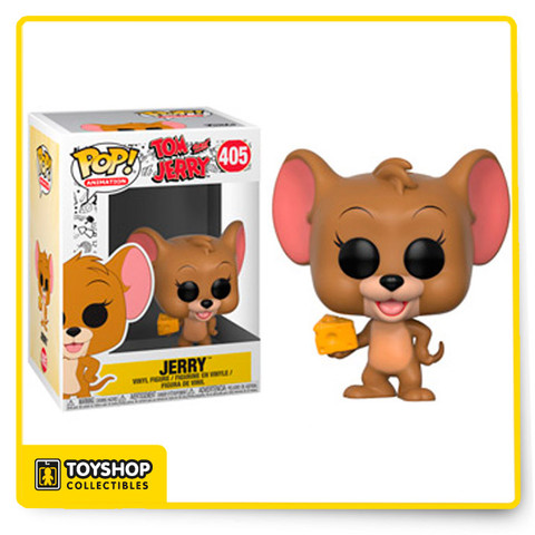 Get ready to play cat and mouse with this Jerry figure from Funko Pop!, complete with his cheese to give him energy and purpose when he's bothering that cat!  Pop!