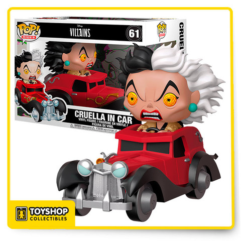 If Cruella with her green and yellow eyes doesn't scare you, then no evil thing will! This menace to puppies everywhere is now available as a Pop! Rides figure, ready to drive into your Disney Villains collection today.
