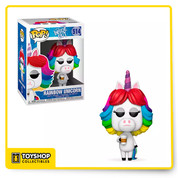 It's lights, camera, action for your Funko collection with the addition of this Rainbow Unicorn Vinyl Figure. Featuring the vibrantly coiffed actress wielding a coffee cup, this Inside Out figure lends colorful flair to any dream sequence.