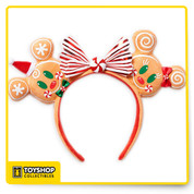 Disney Parks Christmas Mickey Minnie Mouse Gingerbread Man Ear Headband