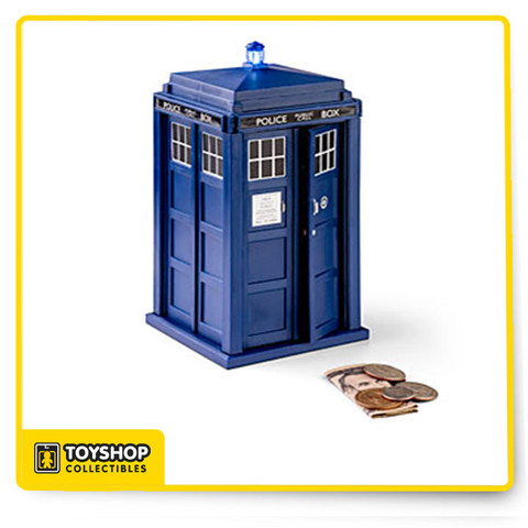 Doctor Who TARDIS Talking Money Bank will measure 8″ in height, and it is large enough on the inside to be able to stash a fair number of coins. In order to access the coins within, all you need to do is open it up and remove those coins. Do bear in mind that this is an officially licensed Doctor Who collectible, so if you are a huge fan of the good Doctor, this is one particular toy or accessory which you could add to your collection.