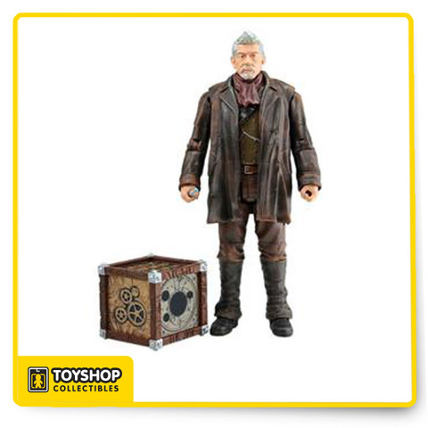 Portrayed by legendary actor John Hurt, the War Doctor is the Doctor's dark chapter, an hitherto unknown incarnation whose existence he has spent centuries repressing, a secret he wants no one to know. He is a relic of the past, part of the great Time War, when he spent centuries fighting alongside his fellow Time Lords against the Daleks and made the final decision to end it with a desperate act that forced that incarnation to renounce the name 'Doctor.' The haunted and battle-worn War Doctor is finally forgiven after helping find a new solution to end the war. Seen in 'The Day of the Doctor,' Doctor Who's 50th-anniversary episode, this 5' tall figure comes with sonic screwdriver, the Moment, and an alternate eighth Doctor head.