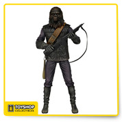 "Gorilla Soldier articulated version of the world's most well-known primates , detailed action figure from the beloved 1968 film, Planet of the Apes ,  entirely faithful to their look in the original movie.   Figure stands approximately 7"" tall and comes with character-specific accessories."