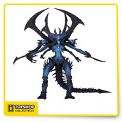 "The creative collaboration between Blizzard's senior sculptor Brian Fay and NECA's Alex Heinke honors the 2014 ""Reaper of Souls"" expansion to Diablo III. The result brings to life the Lord of Terror's menacing shadow with terrifying precision.  Diablo stands over 9″ tall, with a poseable tail that's over 12″ long. Each figure is hand-painted and features over 25 points of articulation for poses to inspire panic and despair in other action figures."