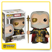 The Dark World film as a 3 3/4-inch tall bobble head. Rendered in the adorable stylized Pop! Vinyl figure form, Odin stands with his staff clenched in his right hand. Odin is dressed in his armor and red cape and looks absolutely fantastic. Ages 14 and up.