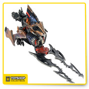 Featuring a hinged cockpit, ball-jointed cannons, spring-loaded projectile, spring-loaded detachable 19″ long blades, and removable wing guns that can be hand held by your Predator action figures. The Blade Fighter also includes areas for extra weapon storage and clips for holding an extra Predator mask.This is a must-have for Predator fans and will come in gorgeous closed box packaging featuring original art and illustrations like the classic toy lines of yesteryear.