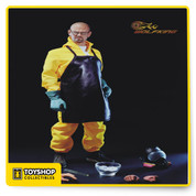 Dr. Chemical Poisoning Teacher, includes a realistic head sculpt, articulated metal body, suburban undergarments, and protective outerwear ( Gas mask, action body handgun, packet of fine chemicals, Palm 4, pair of chemical gloves, pair of leather shoes, T-shirt, pair of socks) also includes a unique array of cooking equipment