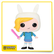 The gender-swapped version of Finn the Human from the Adventure Time with Finn and Jake TV series comes to you in awesome Pop! Vinyl form! This Adventure Time Fionna Pop! Vinyl Figure features the first half of the Adventure Time with Fionna and Cake duo rendered in the awesome stylization of Pop! Vinyl that looks hilarious and adorable. Measuring 3 3/4-inches tall, you'll love all the Times of Adventure that Fionna brings to your home or office!
