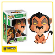 The one-time king of Pride Rock from Disney's The Lion King is now a vinyl figure! The Lion King Scar Pop! Vinyl Figure measures about 3 3/4-Inch tall. A fun recreation of Mufasa's manipulative younger brother in the movie The Lion King, this figure makes a great collectible for Disney fans!.