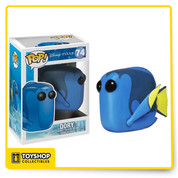 Disney Pixar's hit Finding Nemo gets the Pop! Vinyl treatment! Your favorite fun and funny underwater creatures from the film are stylized in the adorable Pop! Vinyl stylization. The Finding Nemo Dory Disney Pop! Vinyl Figure has the dopey Pacific regal blue tang fish measuring approximately 3 3/4-inches tall. Ages 4 and up