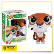 The powerful and suave Bengal tiger from Disney's The Jungle Book is now a vinyl figure! The Jungle Book Shere Khan Pop! Vinyl Figure measures about 3 3/4-inches tall. A fun recreation of the villain in the classic animated film The Jungle Book, this figure makes a great collectible for Disney fans! Ages 14 and up.