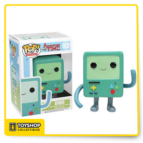 Your favorite living video game console from Adventure Time with Finn and Jake has been given the Pop! Vinyl treatment with the Adventure Time Beemo Pop! Vinyl Figure! Standing 3 3/4-inches tall, the loyal and trusting friend to Finn and Jake looks true to form in light blue with the yellow d-pad, button sculpts, and amiable demeanor.
