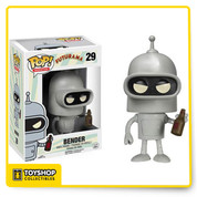 """""""Hey sexy mama, wanna kill all humans?"""" He gambles, smokes cigars, consorts with hookerbots, and now he's a Pop! Vinyl Figure! The feisty robot measures 3 3/4-inches tall and even comes with a beer bottle in hand!"""