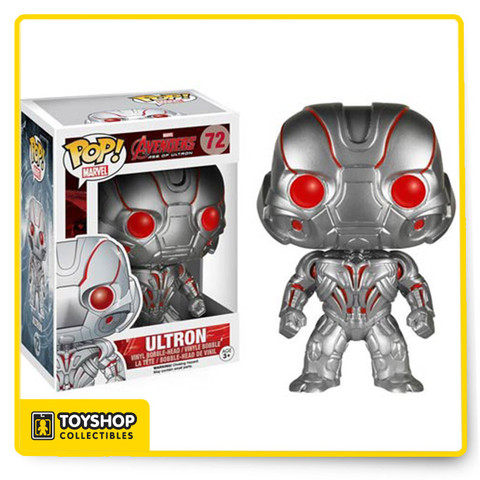 There's only one path to peace...your extinction. A second option may be collecting the Avenger's: Age of Ultron Pop! figures! Measuring approximately 3 3/4-inches tall, Ultron is considered the Avengers' mightiest foe! Help him invade your collection and order today! Ages 3 and up.