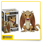 Game of Thrones Viserion Dragon 6-Inch Pop! The Game of Thrones Pop! Television Viserion stands 6-inches tall and unlike his siblings, his features include cream and gold colored scales. Ages 17 and up.