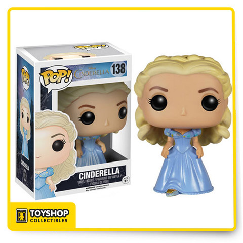 Based on Disney's 2015 live action reimagination of Cinderella, decorate your desk with the princess herself! The Disney Cinderella Live Action Cinderella Pop! Vinyl Figure stands approximately 3 3/4-inches tall as a stylized, Pop! version of her film counterpart, played by actress Lily James.