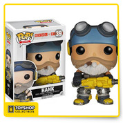 From 2K Games' multiplayer game, Evolve, Hank is one of the invaluable Support Hunters, with the ability to turn all nearby allies invisible! The Evolve Hank Pop! Vinyl Figure measures approximately 3 3/4-inches tall. Hunt or be hunted! Ages 17 and up.