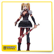 She's out for blood and it's no laughing matter! Arkham City, Harley has come into her own and wants the Dark Knight dead. Based on the designs of the 4th installment of the Batman Arkham video game series, the Batman Arkham Knight Harley Quinn Action Figure has dropped a bit of her militant leather for a more girlish look. However, equipped with a pistol and signature baseball bat, Harley Quinn is ready deliver the final punchline on the Caped Crusader. Measures 6 3/4-inches tall, Ages 14 and up.