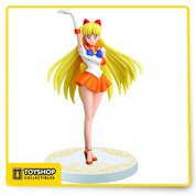 "From Banpresto. This 6 1/4"" figure of Sailor Venus (Minako Aino in Japan) is part of the 'Girls Memory' series of figures celebrating the 20th anniversary of Sailor Moon! Collect and display . Base included."