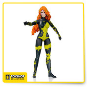 From the pages of New 52 comes this Poison Ivy Action Figure. Poison Ivy is featured in her black and yellow New 52 look. Poison Ivy stands about 6-inches tall and comes in blister card packaging.