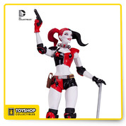 Don't miss your shot at one of most sadistic members of the Suicide Squad - Harley Quinn to your action figure collection! Based on the designs from The New 52, the Harley Quinn action figure comes 6 3/4-inches tall. Ages 14 and up.