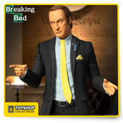 "This classic character Saul quickly won over fans worldwide in the hit show Breaking Bad  and now this  figure can stand as a reminder when you're in a bind, ""Better call Saul!"" His pinstriped business suit is complimented by his token wireless headset and light blue Wayfarer 515 awareness ribbon. The Breaking Bad Saul Goodman 6-Inch Action Figure comes complete with his business card in a display friendly blister card package. Ages 15 and up"