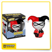 These pint-sized rascals will weasel their way into your heart as surely as they'll find their way onto your shelf! The Batman Harley Quinn Dorbz Vinyl Figure measures approximately 3-inches tall. This loveable little villain comes in a double window-box package to fully display the the character from both front and back! Ages 3 and up.