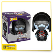 From the Guardians of the Galaxy film comes this Guardians of the Galaxy Ronan Dorbz Vinyl Figure. Measuring approximately 3-inches tall, Drax comes packaged in a double-sided window display box! This Ronan Dorbz Vinyl figure makes a great addition to any Marvel or Guardians of the Galaxy fan's collection! Ages 3 and up.