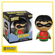 These pint-sized rascals will weasel their way into your heart as surely as they'll find their way onto your shelf! The Robin Dorbz Vinyl Figure measures approximately 3-inches tall. This loveable little hero comes in a double window-box package to fully display the the character from both front and back! Ages 3 and up.