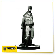 A classic statue is back! Mike Mignola's unique vision for Batman: Black & White was a sell-out success in 2006! Now, due to popular demand, DC Direct has updated the statue with an oval chest symbol and a new white base. Cold-cast in porcelain, the statue measures approximately 19 cm H x 12 cm W x 8 cm D, is painted in monochromatic tones, features a Bat-logo-shaped base and is packaged in a black and white box. Limited Edition.