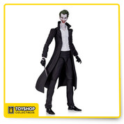 From the pages of New 52comes this Joker in Trench Coat Action Figure! The Clown Prince of Crime stands about 6-inches tall and features him with his dark trench coat, white shirt, and of course, a knife. The Joker action figure comes in blister card packaging. For ages 14 years and up.