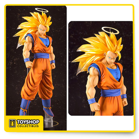 Imported from Japan. From Bandai Tamashii Nations. Go. Even. Further. Beyond!! Figuarts Zero blasts to the next level with the EX line. You've never seen a Saiyan like this before! At almost 12-inches tall, Super Saiyan 3 Son Goku's sculpt and coloring is finished with an outstanding attention to detail. Thanks to the larger scale, artists were able to add folds and creases that are out of the question with smaller renditions and makes for a masterpiece that is stunning from any angle. Make room on your shelf if you haven't already. Comes complete with a specially designed display stand. Ages 15 and up.