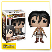 Attack on Titan is one of the biggest anime and manga sensations and it's about to get bigger! That's right - the popular series is joining the Pop! vinyl family! The Attack on Titan Mikasa Ackerman Pop! Vinyl Figure stands an impressive 3 3/4-inches tall. Ages 14 and up.