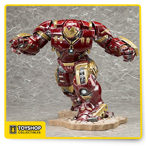 From Kotobukiya featuring the high quality sculpt and dynamic paint work of Kotobukiya's ArtFX line, this massive Hulkbuster will tower over the rest of your ArtFX collection. The 1:10 Scale piece measures approximately 11 1/2-inches tall and stands on a special interlocking diorama base.
