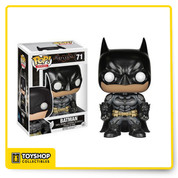 Based on the designs of the 4th installment of the Batman: Arkham video game series, the Batman is back in vinyl! Bruce Wayne is mored armored than ever and ready to take on his adversaries. The Batman: Arkham Knight Batman Pop! Vinyl Figure measures approximately 3 3/4-inches tall.