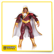 From DC Comics The New 52 and the pages of Justice League comes an action figure of Earth's Mightiest Mortal based on the designs of comics superstar Gary Frank - Shazam! The Shazam! action figure stands 6 3/4-inches tall.