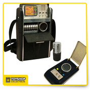 "Whether the next mission is to explore Ceti Alpha V or attend a local sci-fi convention, Trekfans will be ready to report back their findings with the iset of detailed role-play items based on the original Star Trek TV Series!  The classic communicator and science tricorder both feature authentic lights and sounds, and are the crowning touches to any Starfleet uniform. Comes in window box with ""try me"" feature."