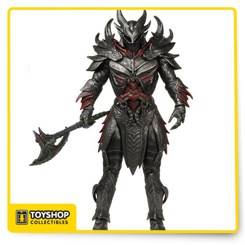 Funko expands their Legacy collection with figures based on the hit RPG, Elder Scrolls V: Skyrim! This Elder Scrolls V: Skyrim Daedric Warrior Legacy Collection Action Figure features the iconic armor of the Daedra and includes an axe. Action figure stands about 6-inches tall and comes in a blister card packaging. Ages 17 and up.