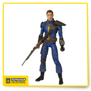 It's the hero of the Wastes! This Fallout Lone Wanderer Legacy Collection Action Figure features the main character from the Fallout Series. Figure comes with a gun to fight off those pesky mutants and he's wearing his Vault 101 jumpsuit as well as his trusty Pip-Boy! Action figure stands about 6-inches tall and comes in a blister card packaging. Ages 17 and up.
