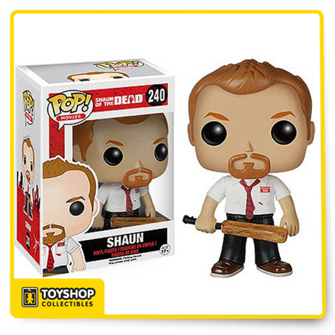 In a time of crisis a hero must rise... from his sofa. Stop the zombie uprising and have some flesh-eating fun with the Shaun of the Dead Bloody Shaun Pop! Vinyl Figure! Armed with his cricket bat, the Shaun of the Dead Shaun Pop! Vinyl Figure measures approximately 3 3/4-inches tall and comes packaged in a window display box. Ages 17 and up.