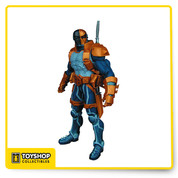 "Own the first-ever action figure that captures the World's Greatest Mercenary's new look from DC Comics - The New 52.  Deathstroke will also be equipped with 3 accessories! Stands 6.85"" H."